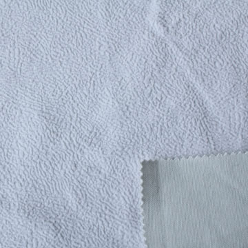 Short pile composite T/C fabric
