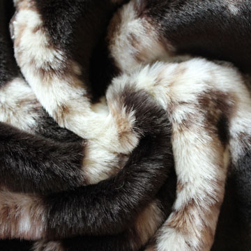 Jacquard high pile fur