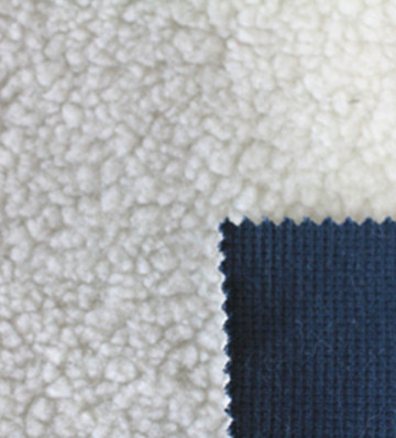 Composite lambs wool knitting fabric